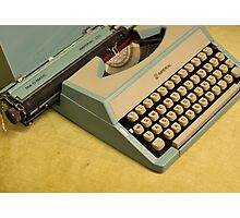 Vintage TAB-O-MATIC Antique Typewriter 1970's Photographic Print