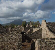 Vesuvius, Towering Over the Pompeii Ruins by Georgia Mizuleva