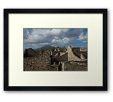 Vesuvius, Towering Over the Pompeii Ruins Framed Print