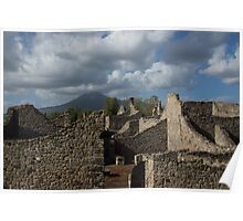 Vesuvius, Towering Over the Pompeii Ruins Poster