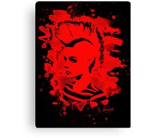 Punk Girl – bleached red Canvas Print