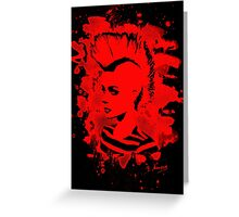 Punk Girl – bleached red Greeting Card