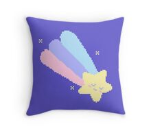 Pixel Planet - Sleepy Shooting Star Throw Pillow