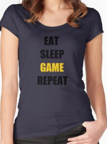 Eat, Sleep, Game. Women's Fitted Scoop T-Shirt