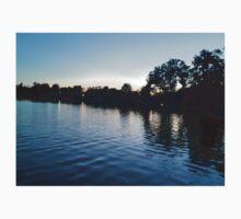 Sunset Over Lake Baby Tee
