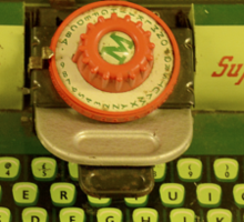 Vintage Tin Mettoy Supertype  Antique Typewriter 1960's Sticker