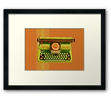 Vintage Tin Mettoy Supertype  Antique Typewriter 1960's Framed Print