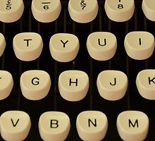 Vintage Zepher Typewriter Keys 1960's Photograph by Josh-T