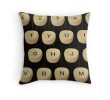 Vintage Zepher Typewriter Keys 1960's Photograph Throw Pillow