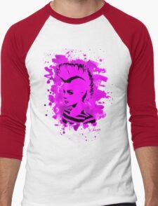 Punk Girl – bleached pink Men's Baseball ¾ T-Shirt