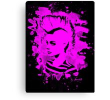 Punk Girl – bleached pink Canvas Print