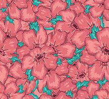 Seamless Floral Ornamental Pattern by Olga Altunina