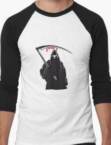Death hooded sense Men's Baseball ¾ T-Shirt