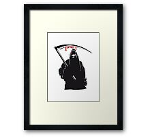 Death hooded sense Framed Print