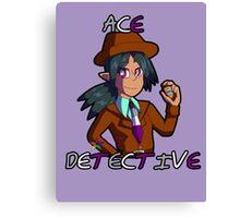 "Silva Gunmetal, ""Ace"" Detective Canvas Print"