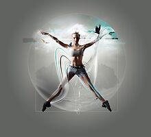 Vitruvian woman by pushgraphic