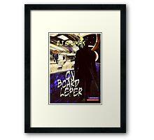 On Board Leper (illustration for the story by Ej Shumak Framed Print