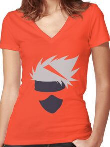 kakashi Women's Fitted V-Neck T-Shirt