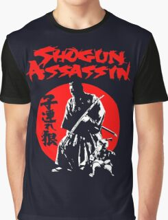 LONEWOLF AND CUB AKA SHOGUN ASSASSIN SHINTARO KATSU JAPANESE CLASSIC SAMURAI MOVIE  Graphic T-Shirt