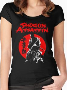 LONEWOLF AND CUB AKA SHOGUN ASSASSIN SHINTARO KATSU JAPANESE CLASSIC SAMURAI MOVIE  Women's Fitted Scoop T-Shirt