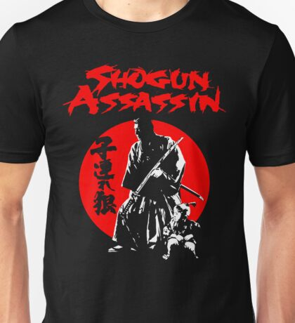 LONEWOLF AND CUB AKA SHOGUN ASSASSIN SHINTARO KATSU JAPANESE CLASSIC SAMURAI MOVIE  Unisex T-Shirt