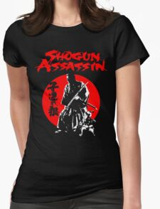 LONEWOLF AND CUB AKA SHOGUN ASSASSIN SHINTARO KATSU JAPANESE CLASSIC SAMURAI MOVIE  Womens Fitted T-Shirt