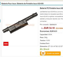 Batterie Asus A32-K93 by seegoal