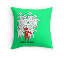Mister Squinty Pillow Throw Pillow