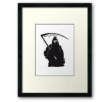 Death hooded sense Framed Print