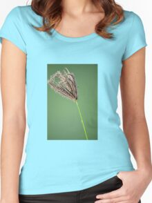 Lonely grass flower Women's Fitted Scoop T-Shirt