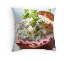 Bavarian Cheese Burger Pillow II Throw Pillow