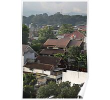 residential area in Bandung Poster