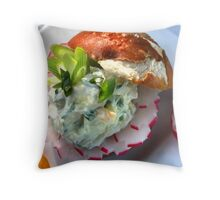 Bavarian Cheese Burger Pillow Throw Pillow