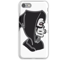Death hooded kiffen joint iPhone Case/Skin
