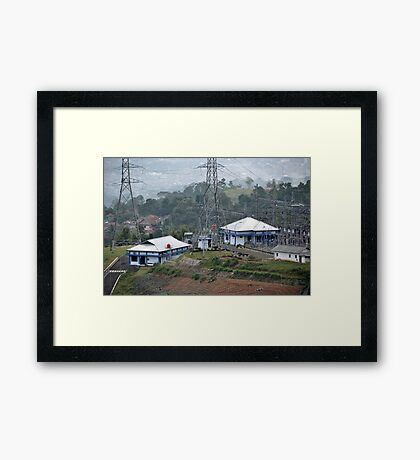 electricity plantation Framed Print