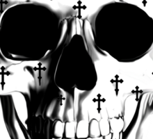 After market, gothic skull with crosses Sticker