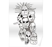 Slipknot Continuous Line Poster