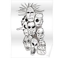 Slipknot Continuous Line Poster