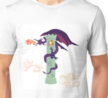 A dragon and the princess in the tower Unisex T-Shirt