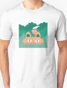 Hide and Seek Fox Illustration Unisex T-Shirt