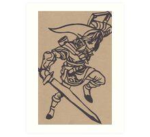 Link Papercraft Art Print