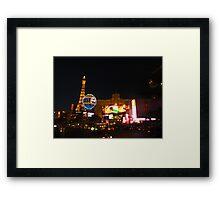Las Vegas Eiffel tower Framed Print