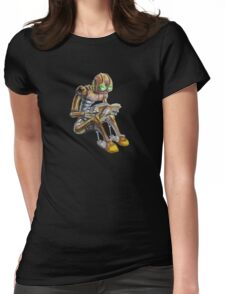Reading robot Womens Fitted T-Shirt