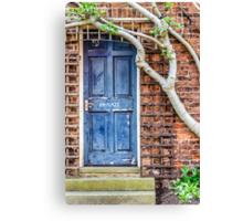 Private Door Canvas Print