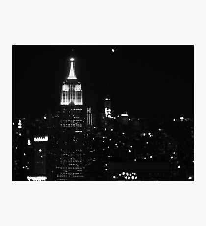 Empire state building B/W Photographic Print