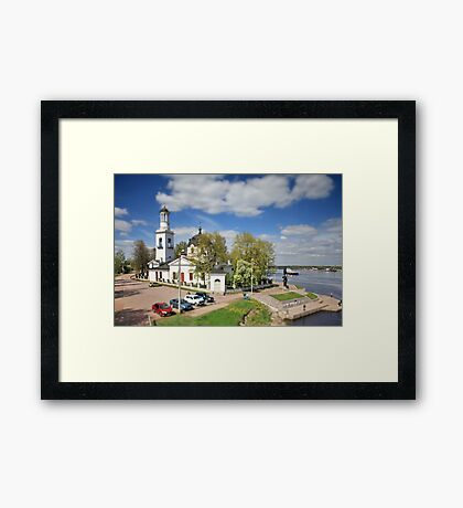 view of the Church of Sts. Alexander Nevsky  tilt Framed Print