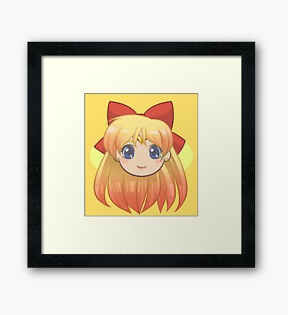 Sailor Venus Chibi Framed Print