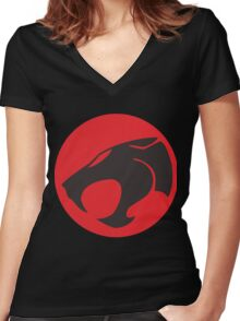 thundercats Women's Fitted V-Neck T-Shirt