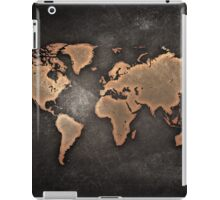 Black and Brown World Map iPad Case/Skin
