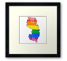 New Jersey Pride Framed Print